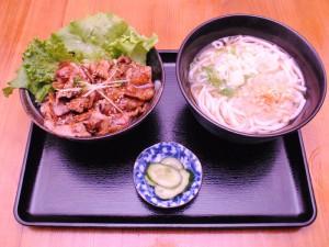 カルビ丼とうどんのセット201510