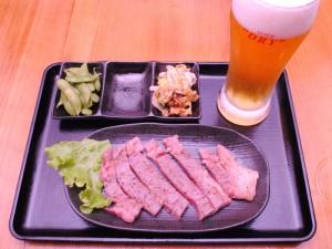 サーロインとビールのセット201510